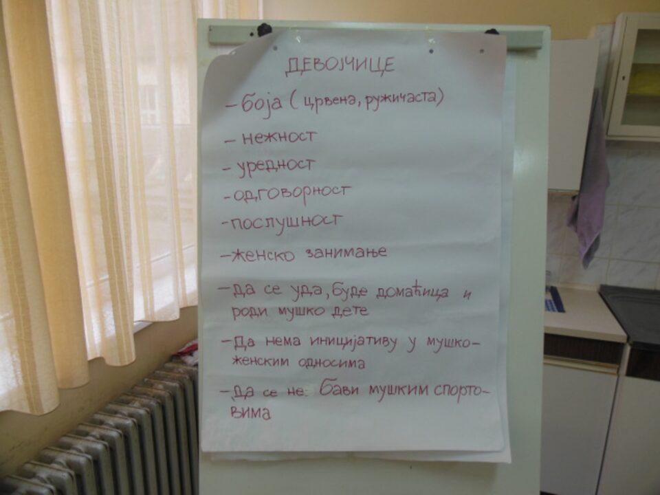 Родно засновано насиље, презентација прве групе