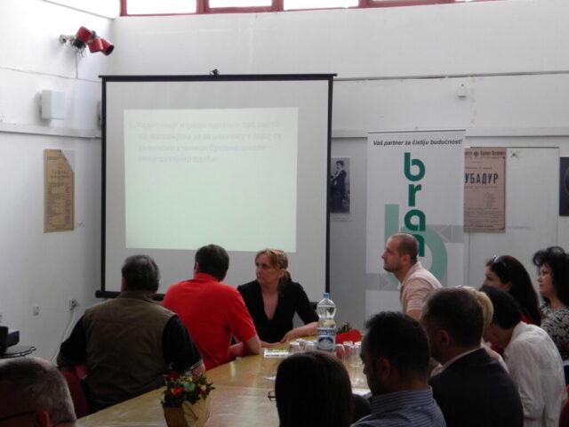 Завршен пројекат - изложба и дебата, излагање